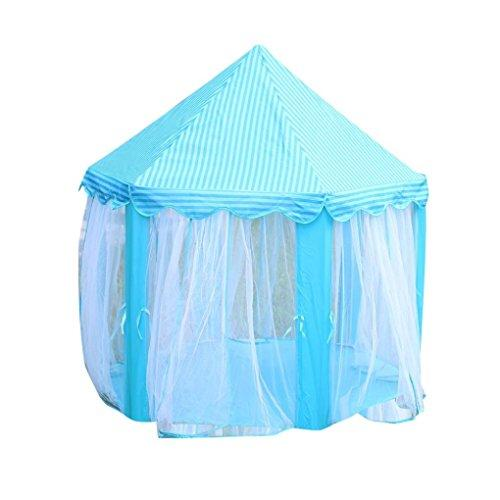 Festival Fairy Princess Castle Play Tent, Newest Design, Extra Large Room,Kingko® Large Playhouse Kids House Toy Perfect Indoor Toys Gift for Child Toddlers Indoor & Outdoor Use (Blue)