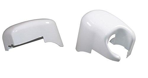 Fiamma F45i Left & Right Hand Motorhome Awning Outer End Cap Cover Polar White 98655-014 04274-01C