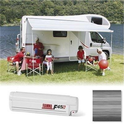 Fiamma F45S 190cm Motorhome Awning Canopy - Polar White/Deluxe Grey (06280M01T)