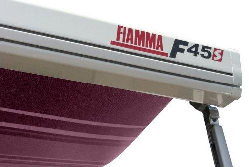 Fiamma F45S 400cm Motorhome Awning Canopy - Polar White/Bordeaux (06280C01D)