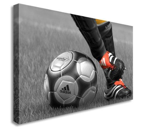 Fifa 13 Style Football - Red Boots Wall Picture Canvas Art Cheap Print 20x30 inches