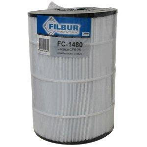 Filbur FC-1480 Antimicrobial Replacement Filter Cartridge for Jacuzzi CFR 75 Pool and Spa Filter