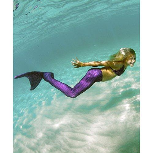 Fin Fun Mermaid Tail, Reinforced tips, Monofin, Asian Magenta, Size Child 8