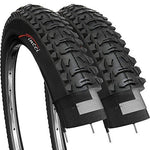 Fincci Pair 26 x 1.95 Inch 53-559 Tyres for MTB Mountain Hybrid Bike Bicycle (Pack of 2)