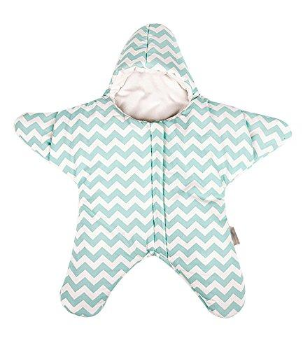 Finerolls Cotton Baby Starfish Sleeping Bag Super Soft Newborn Sleepsack Autumn Winter Warm Strollers Bed Swaddle Blanket Wrap - Suitable for about 0-12M Baby (Green)