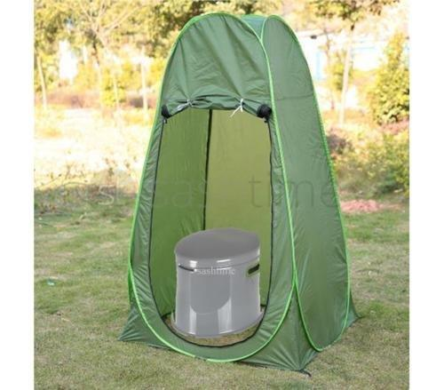 FiNeWaY PORTABLE POP UP TENT OUTDOOR SHOWER CHANGING PRIVACY ROOM WITH 5L CAMPING TOILET
