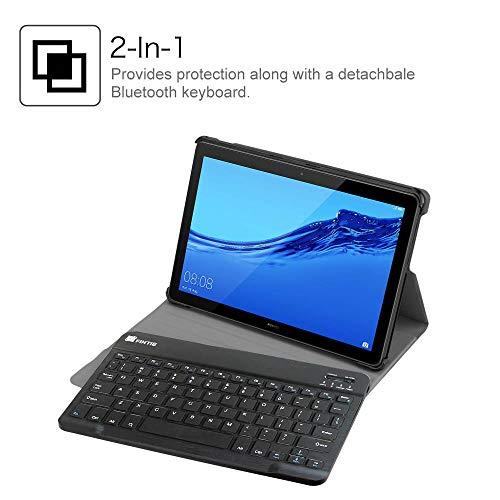 FINTIE For Huawei Mediapad T5 10 Keyboard Case - SlimShell Light Weight  Stand Cover with Magnetically Detachable Wireless Bluetooth Keyboard for