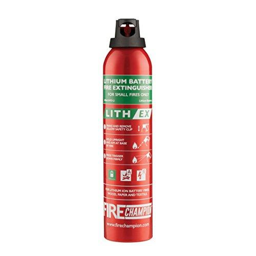 Fire Champion - LITH-EX - Lithium Battery Fire Extinguisher - 400ml - 3-in-1 Home/Car/Office Mini Fire Extinguisher