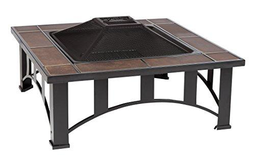 Fire Sense Mission Style Square Fire Pit