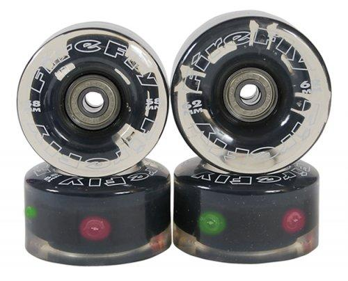 Firefly Light Up Quad Roller Skate Wheels - Flashy Light Up Wheels