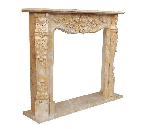 Fireplace facade marble fireplace stone pink rococo style fireplace ...