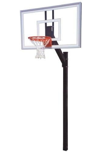 First Team Legacy Nitro In-Ground Basketball Hoop with 60 Inch Glass Backboard