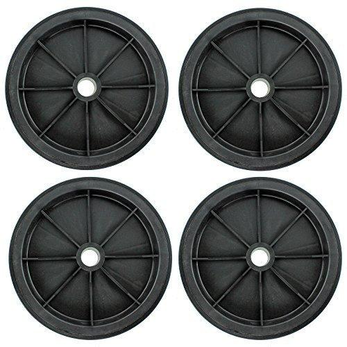 "First4spares 10"" Solid Wheelbarrow Wheel & Tyre for Garden Trolley / Barrow / Go Cart / Trailer Truck (Pack of 1,2,4,6 or 8)"