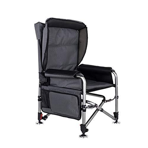 Fishing Chair Reclining Folding Multi-function Portable All-terrain Wild Fishing Chair Outdoor Chair Camping Chair Load-bearing 150kg (Color : Black, Size : B)