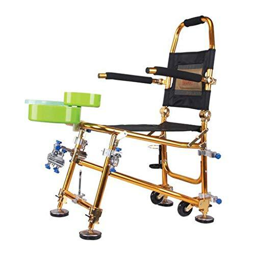 Fishing Chairs Multifunctional Chair Taiwan Director's Chair Camping Chair Outdoor Sports Chair Can Bear 125 Kg Gift (Color : Gold, Size : 39 * 69 * 103cm)