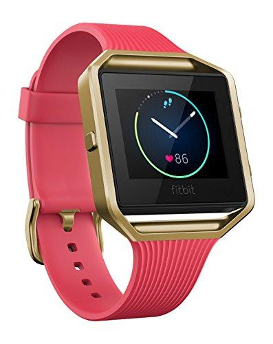 Fitbit Blaze Smart Activity Tracker and Fitness Watch with Wrist Based Heart Rate Monitor - Slim Pink Gold/Large