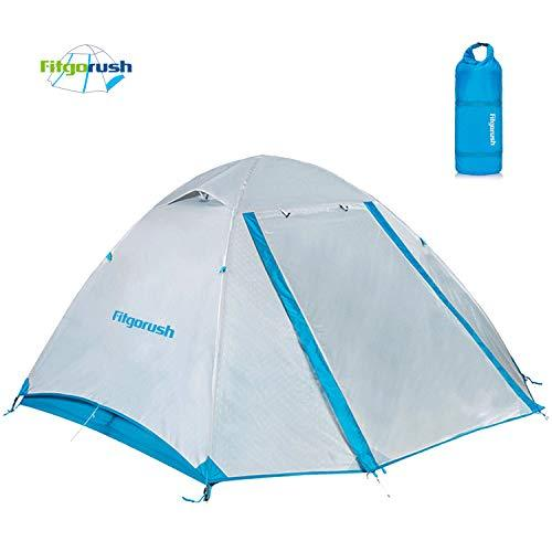Fitgorush Camping Tent Waterproof Backpacking Tents for 2 Person 3 Season Outdoor Dome Tent for Beach Garden Traveling Hiking Camping Fishing Picnic
