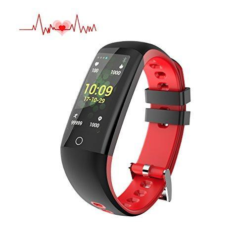 Fitness health Tracker with Touch Screen, smart Watch Heart Rate Monitor, Calorie/Step Counter, Blood Pressure Sleep Monitor, Waterproof Activity Tracker sport Bracelet Wristband for IOS/Android