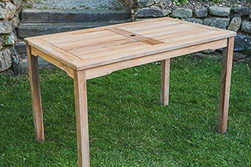 Fixed Rectangular M Solid Teak Garden Table High Quality Store - Solid teak outdoor table