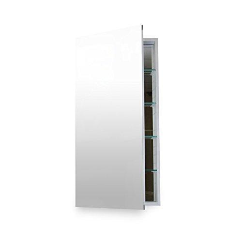 "Flawless Bathroom MC 1230 Medicine Cabinet with Blum Soft Close Door Hinges, 12 x 30"", Anodized Aluminum"