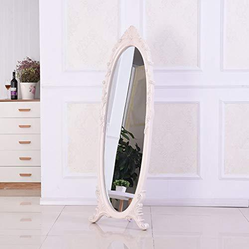 Floor mirror- European Minimalist Furniture Full Body Plastic Frame Mirror, Bedroom Retro Vanity Mirrors, Broken Reissue (Size : 170 * 67cm)