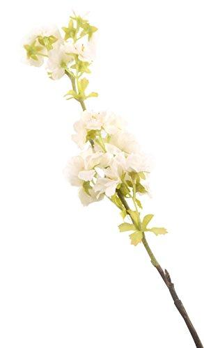 Floral Elegance Artificial 68cm Single Stem White Japanese Cherry Blossom Flowers x 6