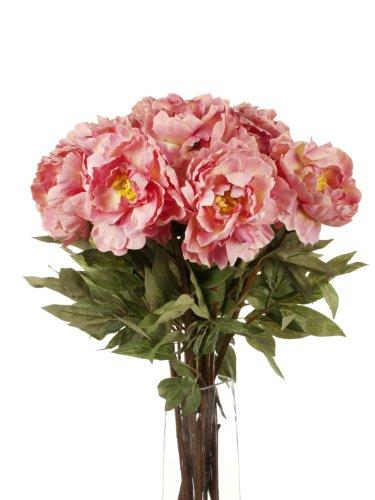 Floral Elegance Artificial 78cm Single Stem Pink Peonies x 12 - Artificial Luxury Silk Flower Range