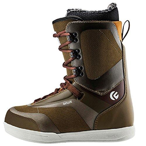Flux Bindings Gtx-Lace Mens Snowboard Boot 2017/18 Model, Army, 10.5