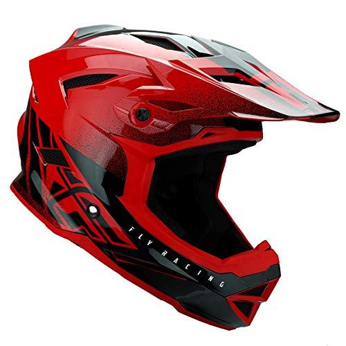 Fly Racing 2019 YOUTH Default Dither MTB Downhill BMX Helmet - Red/Black L