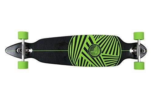 Flybar Unisex's Zigzag Drop Through Longboard Skateboard, Green, Medium/41-Inch
