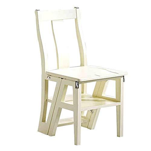 Folding Wooden Ladder Chair Kitchen Ladder Small Footstool/Flower Stand Adult/Children Climbing Stool Kitchen Step Stool