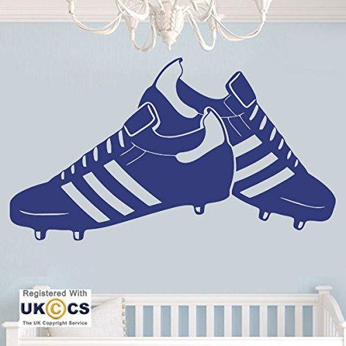 Football Boots Boys Bedroom Kids Sport Wall Art Stickers Decals Vinyl Home Room Bedroom Boys Girls Kids Adults Home Livingroom Quotes Kitchen Bathroom Accessories Mural