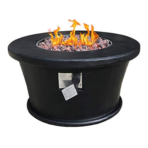 Foremost Black Dome Gas Fire Pit and Stylish Patio Heater for the Garden