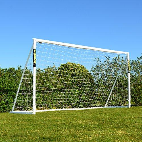FORZA 12' x 6' Football Goal Locking Model - The Only Goal That Can Be Left Outside in Any Weather (Goal, Target Sheet, Ball & Bag)