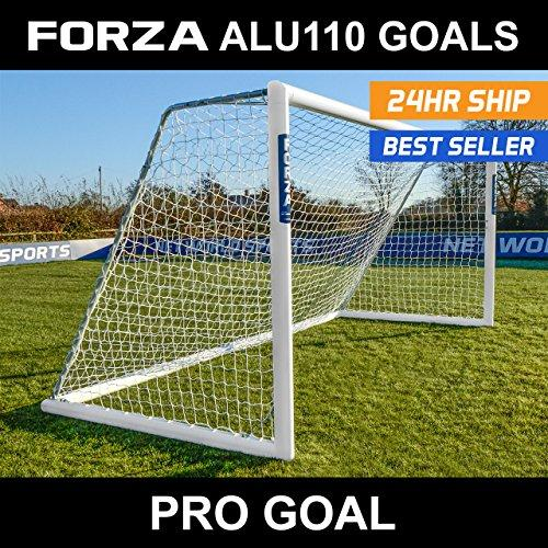 FORZA Alu110 Freestanding Football Goal (12ft x 4ft - 24ft x 8ft) Bring A Professional Touch To Training And Matchday With This Freestanding Aluminium Football Goal [Net World Sports] (21ft x 7ft)