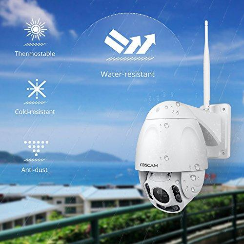 Foscam FI9928P 1080P WiFi CCTV Camera - Pan/Tilt/Zoom Remotely, 60 Metre  Night Vision, Motion Detection, Waterproof, Outdoor Home Security - Ideal  for