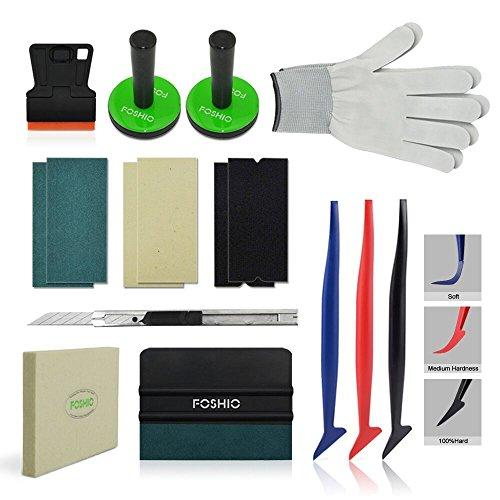 FOSHIO Vehicle Vinyl Wrapping Applicator Tool Kit for Car Window Tint 3M  Vinyl Film Installation Include Different Squeegees, Magnets  Holders,Plastic