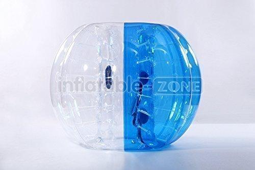 FREE SHIPPING Inflatable-ZoneTM Bubble Soccer Bubbles, bumper ball, human humster ball, bubble football - Blue Flower (Blue Half)