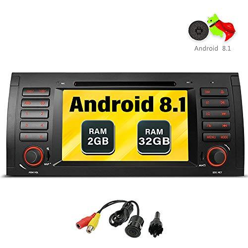 "Freeauto Android 7.1 Car Stereo For BMW E39 E53 M5 X5 Car Radio Audio 7"" Quad Core GPS DVD Player Multi-Touch Screen Radio CD DVD Player GPS 1080P Video Screen Mirroring OBD2 Wifi Rear Camera"