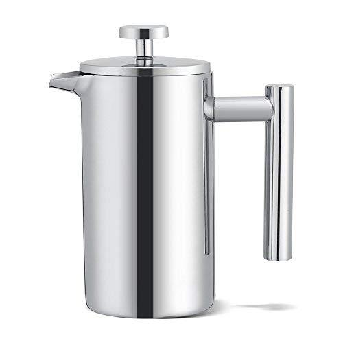 French Press 350ml Stainless Steel Coffee French Press Maker Cafetière Double Walled Tea Coffee Filter Pot Press Plunger