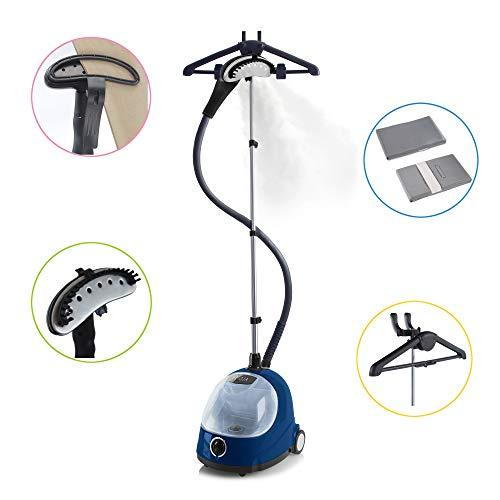 Fridja f1000 Professional Vertical Garment/Clothes Steamer Ideal For Suits and Delicate Materials Including Wedding Dresses - 2018 Updated Model (Navy)