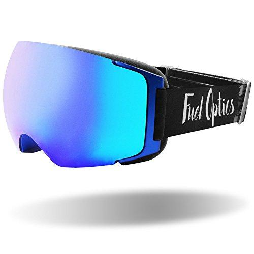 Fuel Optics Anit-Fog Ski And Snowboard Goggles With Magnetic Quick Change Lens | Helmet Compatible With Extra Long Adjustable Strap Blue