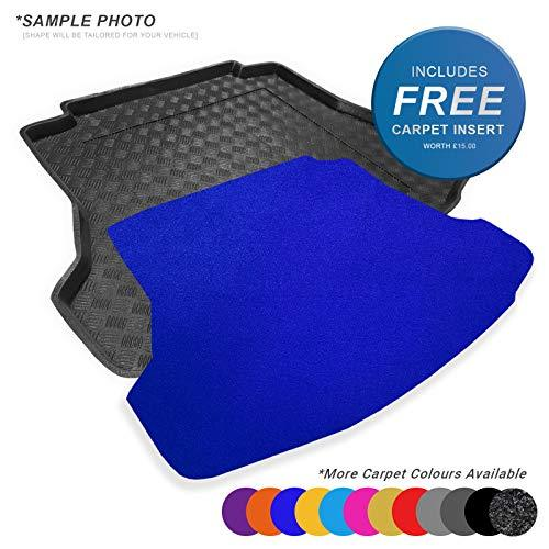 Fully Tailored PVC Boot Liner / Mat / Tray + FREE Blue Velour Carpet Insert