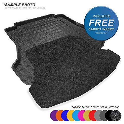 Fully Tailored PVC Boot Liner / Mat / Tray + FREE Charcoal Velour Carpet Insert