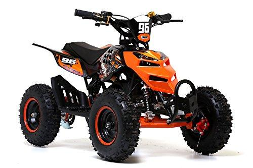 "Funbikes 49cc Black Kids 6"" Big Wheel Petrol Mini Quad Bike 2 stroke (Orange)"