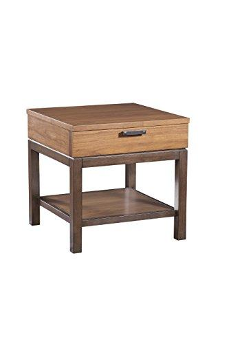 Furniture At Home Food & Wine Estate Collection End Table, Dark Chocolate/Walnut