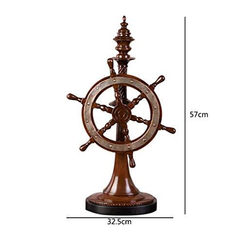 Furniture decoration Vintage Rudder Model Furnishings Pilot Helmsman Home Living Room Decoration Crafts