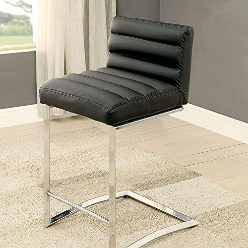 Furniture of America Dining Chairs, Metal, Black