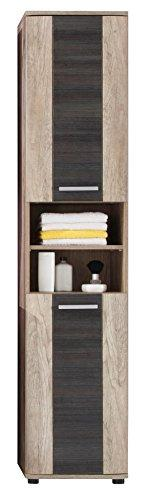 Furnline Star Monument Oak Bathroom Furniture Tall Cabinet, Brown