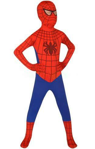 FYBR Kids Spider-Man SuperSkin Costume - Children Unisex Boys & Girls Onesie | Zentai Animal Cosplay Outfit Halloween Clothing Lycra Spandex (Large)